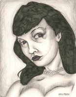 Betty Page - Sketch by Colour-Me-Deranged