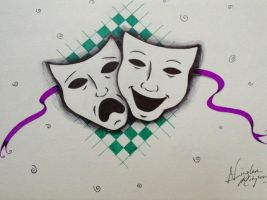 Thespian masks by Greatlygeeky