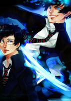 Ao no Exorcist by Calvariae