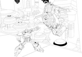 THIS IS IACON - line art by JdelosSantos