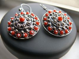 patinated silver earring by irineja
