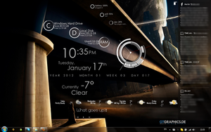 My rainmeter desktop skin by ThundeCloud89