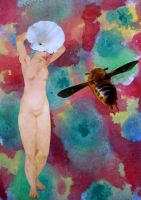 flower and bee by Sarah-on-Deviantart