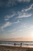 Beach and Sky by nathanspotts