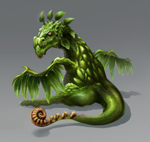 Plant Dragon Baby by DLouiseART
