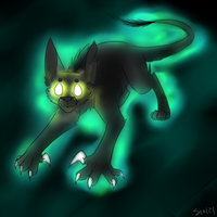 Iluminated panther thingy by UnchartedUnknownStar