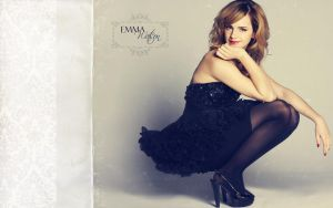 Emma Watson Wallpaper by textureclad