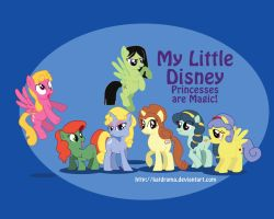 My Little Pony Disney Princess by PlaidRed