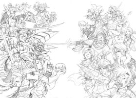 FF - Dissidia Spoof Pencils by MarcelPerez