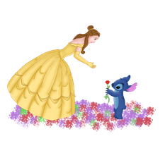 A rose for Belle by Eingel91