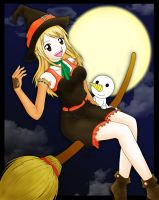 Happy Halloween: Lucy and Plue by PsychoKIRA