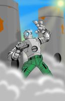 Atomic Robo Pin-Up by Gmunny