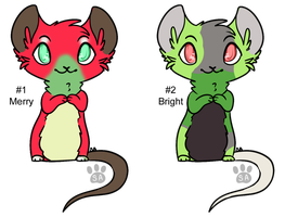 Christmas Mouse Adopts - Adopted by Feralx1
