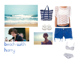 Beach With Harry by curlymonster14
