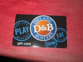 Dave and Buster's gift card by mylesterlucky7
