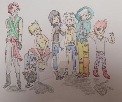 Digimon as humans by Animalunleashed