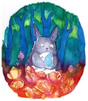 Totoro - Speedpainting Available! by L-Y-N-S