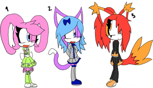 Free Sonic Adoptables +CLOSED+ by Sky-Yoshi