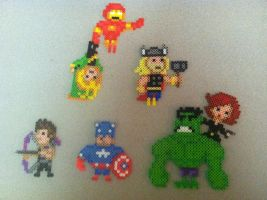 The Avengers - Perler Art by Brentimous