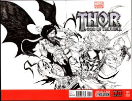 Gohr vs Thor - Thor God Of Thunder #1 by SpiderGuile