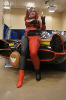 Harley and the Batmobile by LolitaLibrarian