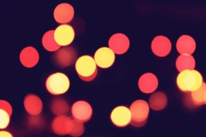 red bokeh by birazhayalci