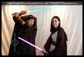 Luminara Unduli and Jaina Solo - Jedi Warrioresses by LadyKnightAlanna