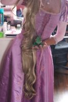 Rapunzel Wig 2.0 in Progress! by aelynn000