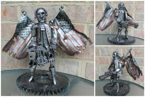 Bioshock Infinite Motorized Patriot by geargoylemetalart