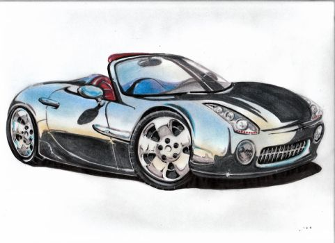 car rendering by awassabee