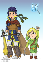 Ike and Toon Link, SSBB by VKliza