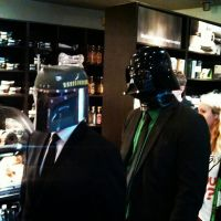 Vader and Boba in Starbucks by AWESwanky