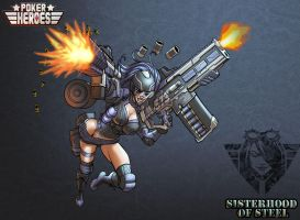 POKER HEROES: Sisters of Steel The Assault 02 by billydallaspatton