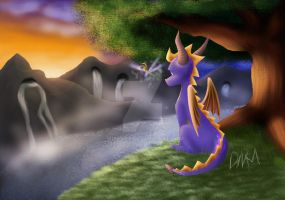 Spyro- Background Practice by Mischef
