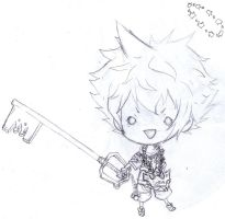 old drawing of Sora from KH by punkion