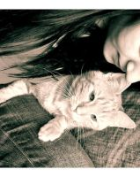 Me and my cat. by Taimii