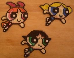 Powerpuff Girls perler by m0n0xide20