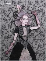 Paper art Doll___Witch Gerl__ by Finschi