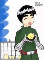 Rocklee with a Chickie by chiyo-san