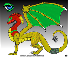 Samus Aran dragon by michaelgabrielr