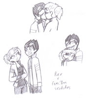 Rex X fem!Ben sketches by LaCatrinita