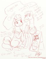 Bronycon SugarcubeCorner roughs01 by Bee-chan