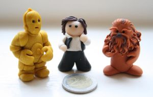 3PO, Han Solo and Chewbacca by Ompabop