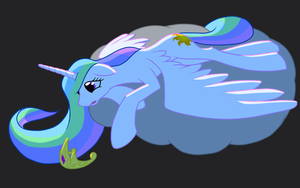 Resting on a grey cloud by NadnerbD