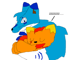 Chibi Jolton and Blue Sleeping by Poke-Master250