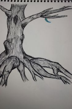 (unfinished) one feather left by jesusfreak995