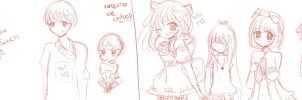 Sketchs Practica by MitsukoBunny-chan