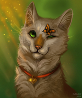Cat's smile by FlashW