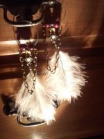 Indian styled Feather Earrings by EllasDesigns