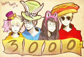thanks 3000+! by loonytwin